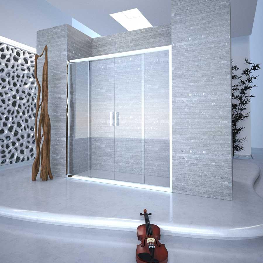 Box doccia in cristallo trasparente Bressani Leros 240-CR-TR-110