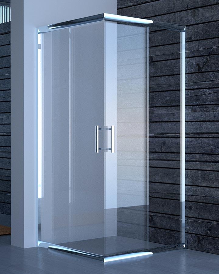 Box doccia in cristallo trasparente Bressani Mathos 200-CR-TR-7070