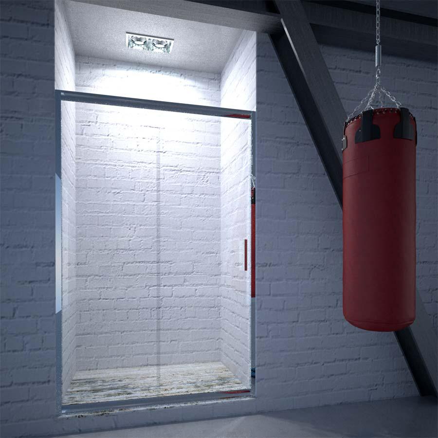 Box doccia in cristallo satinato Bressani Naxos 220-CR-SA-90