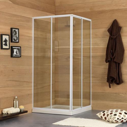 Box doccia in cristallo satinato Bressani Tinos 3 Lati 6-CR-SA-1808080