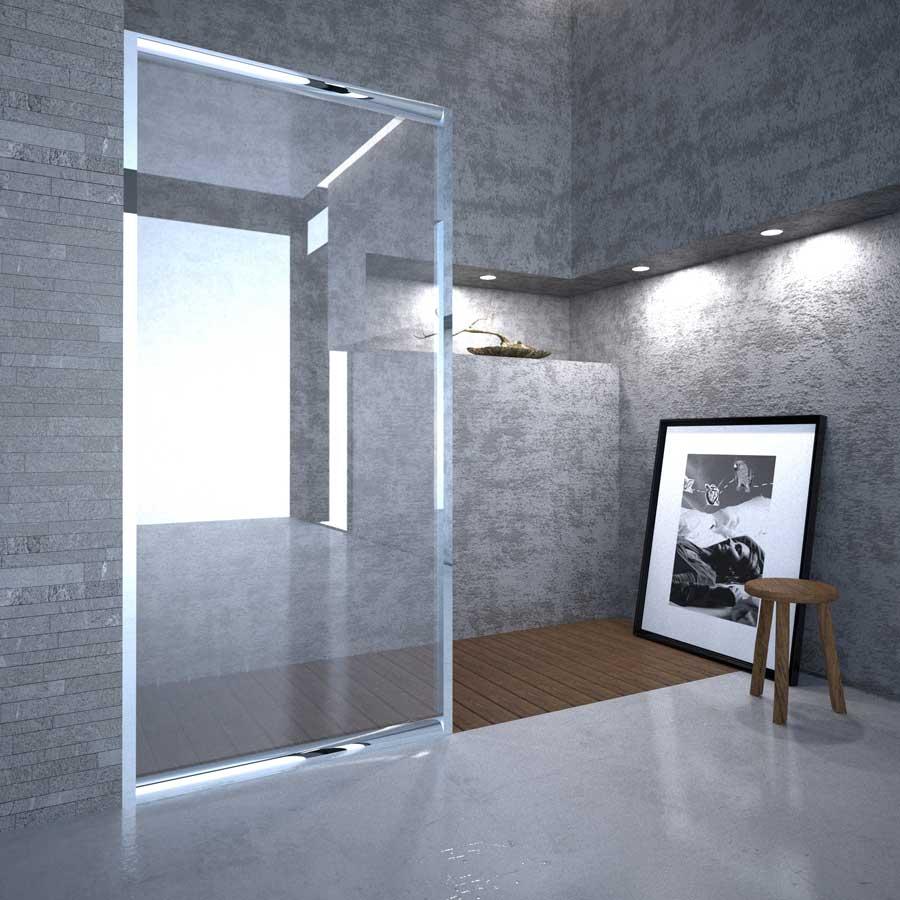 Box doccia in cristallo trasparente Bressani Zante 500-CR-TR-90