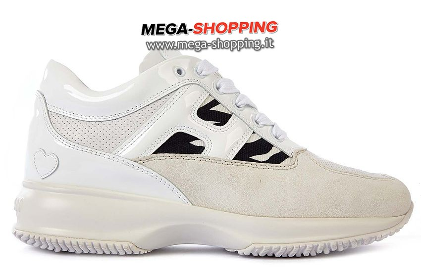 Hogan scarpe sneakers donna in pelle nuove interactive GYW00N0I7615A91150