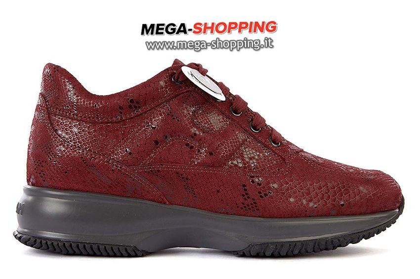 Hogan scarpe sneakers donna in pelle nuove interactive HXW00N000101O6R008