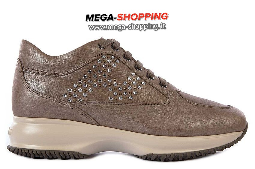 Hogan scarpe sneakers donna in pelle nuove interactive HXW00N0E4301QIC407