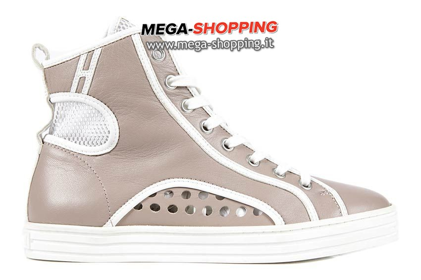 Hogan scarpe sneakers alte donna in pelle nuove rebel HXW1411016054009