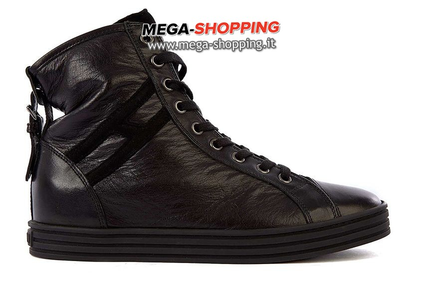 Hogan scarpe sneakers alte donna in pelle nuove rebel HXW1820D6614RG999