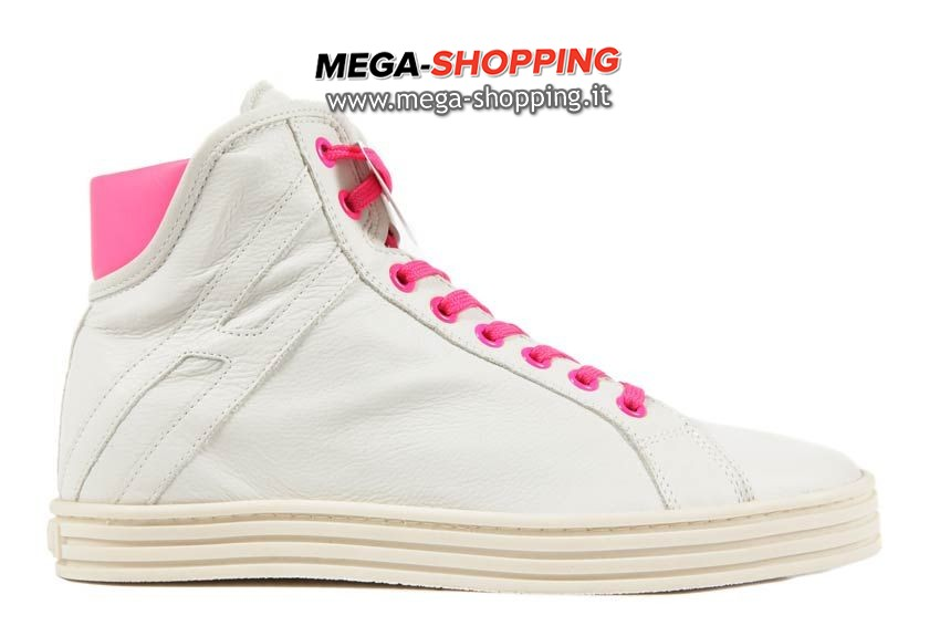 Hogan scarpe sneakers alte donna in pelle nuove rebel HXW1820I6501KT473F