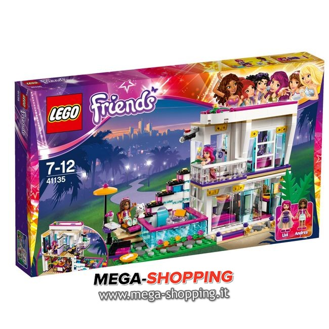 la casa della pop star livi Lego Friends 41135