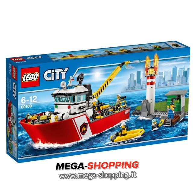 motobarca antincendio Lego City 60109
