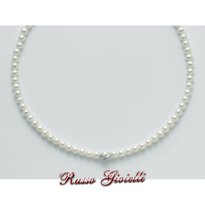 c87dc808bc20b1 Collana Miluna in oro e diamanti con perle Oro 375 Le Collane Perle PCL4716X