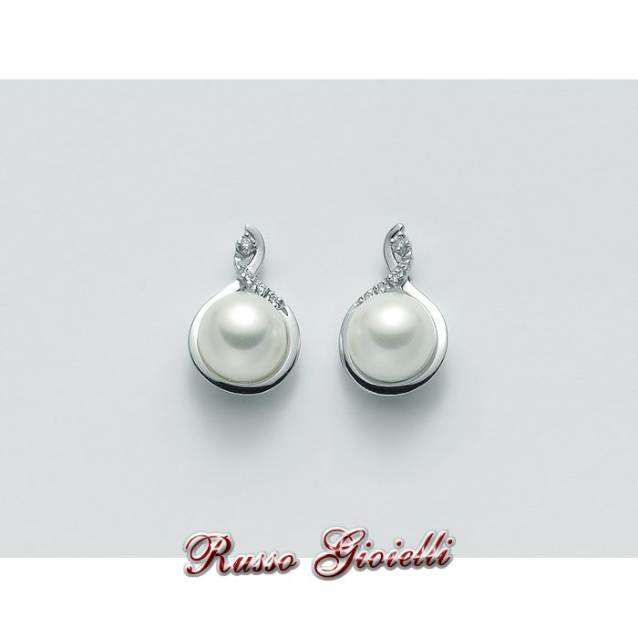 de61206e5c5b66 Orecchini Miluna in oro e diamanti con perle Parure Perle PER2072 ...