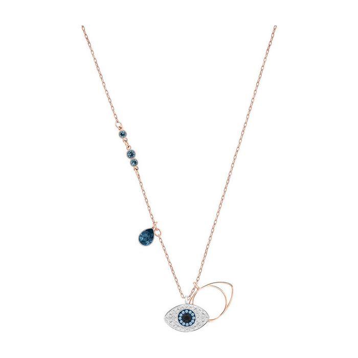 pendente swarovski symbolic evil eye, azzurro, placcatura mista 5172560