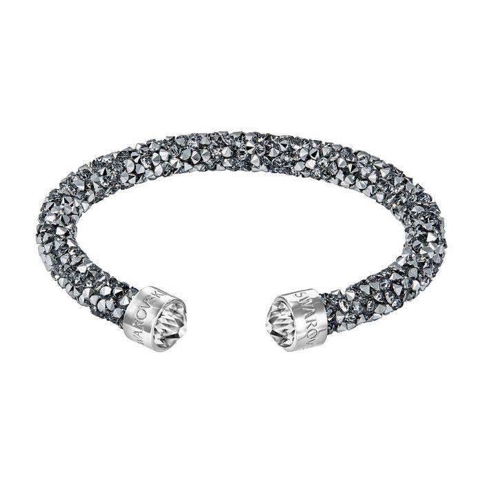 Bracciale rigido Crystaldust, grigio, acciaio inossidabile
