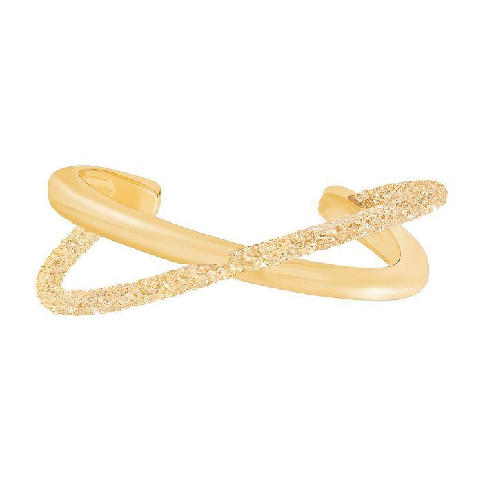 Bracciale rigido Crystaldust Cross, Dorato, placcatura oro