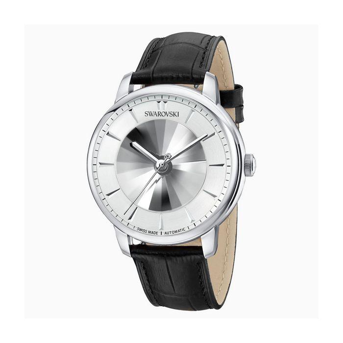 Orologio automatico maschile Atlantis edizione limitata, Cinturino in pelle, bianco, tono argentato