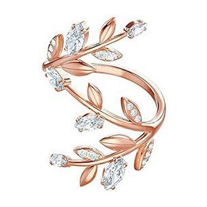 Anello Mayfly, bianco, placcato oro rosa