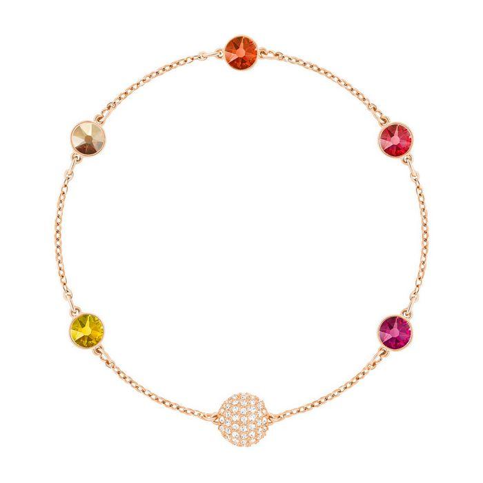 swarovski remix collection orange strand, multicolore, placcato oro rosa 5451094