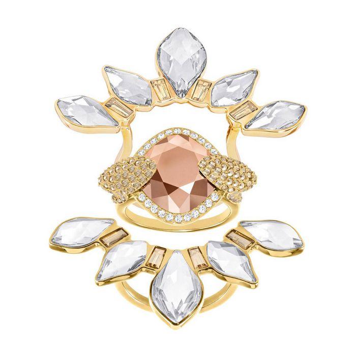 Anello con motivo Odysseia, multicolore, placcatura oro