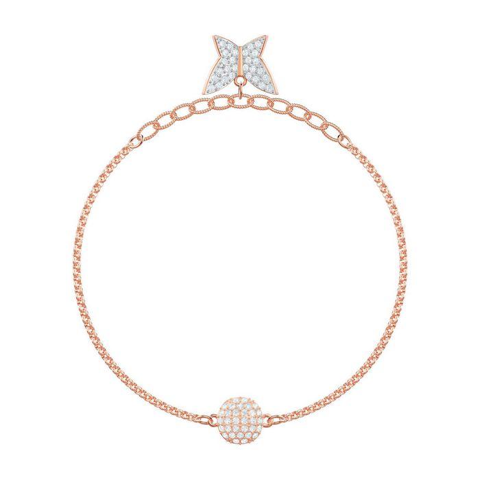 swarovski remix collection lilia strand, bianco, placcato oro rosa 5466823